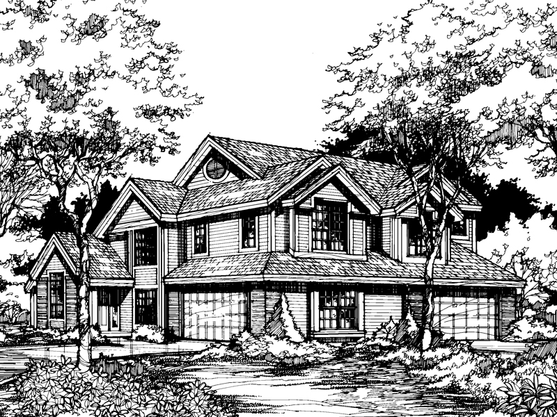 Country House Plan Front of Home - 072D-0600 | House Plans and More