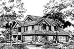Traditional House Plan Front of Home - 072D-0600 | House Plans and More