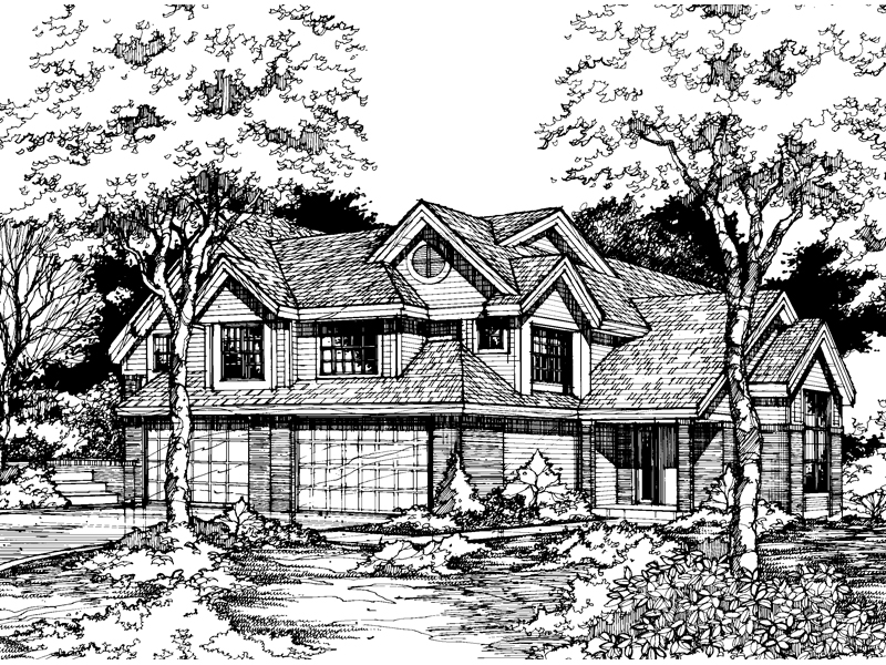 Multi-Family House Plan Front of Home - 072D-0601 | House Plans and More