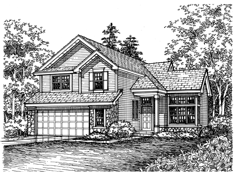 Southern House Plan Front of Home - 072D-0602 | House Plans and More