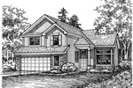 Traditional House Plan Front of Home - 072D-0602 | House Plans and More