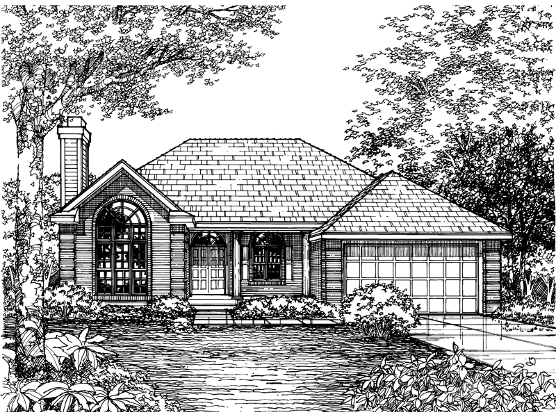 Contemporary House Plan Front of Home - 072D-0603 | House Plans and More