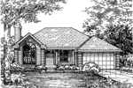 Ranch House Plan Front of Home - 072D-0603 | House Plans and More