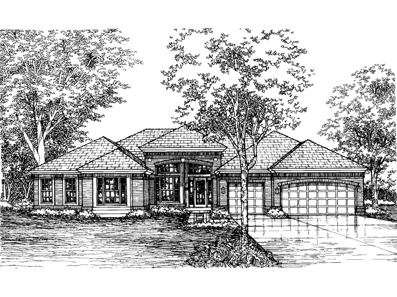 Traditional House Plan Front of Home - 072D-0605 | House Plans and More