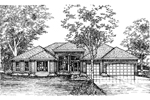 Ranch House Plan Front of Home - 072D-0605 | House Plans and More