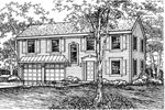 Colonial House Plan Front of Home - 072D-0606 | House Plans and More