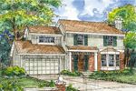 Southern House Plan Front of Home - 072D-0607 | House Plans and More