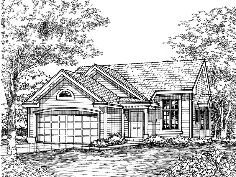 Country House Plan Front of Home - 072D-0609 | House Plans and More