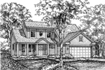 Farmhouse Home Plan Front of Home - 072D-0610 | House Plans and More