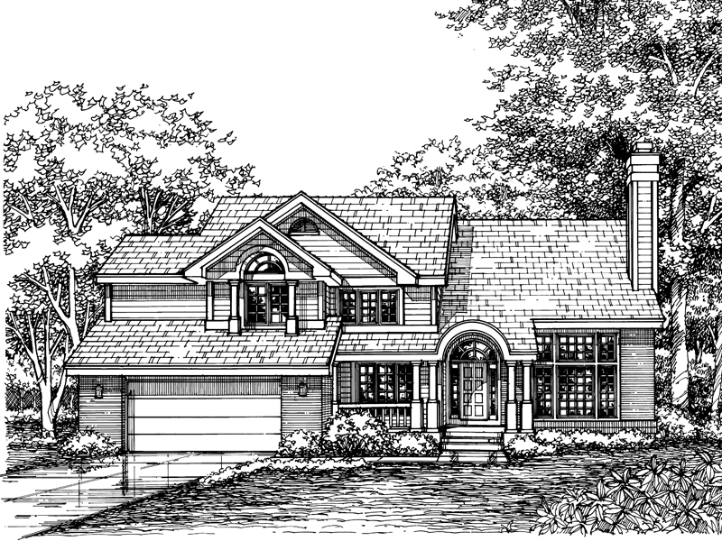 Traditional House Plan Front of Home - 072D-0613 | House Plans and More
