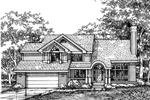 Modern House Plan Front of Home - 072D-0613 | House Plans and More