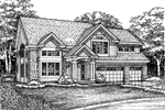 Craftsman House Plan Front of Home - 072D-0614 | House Plans and More