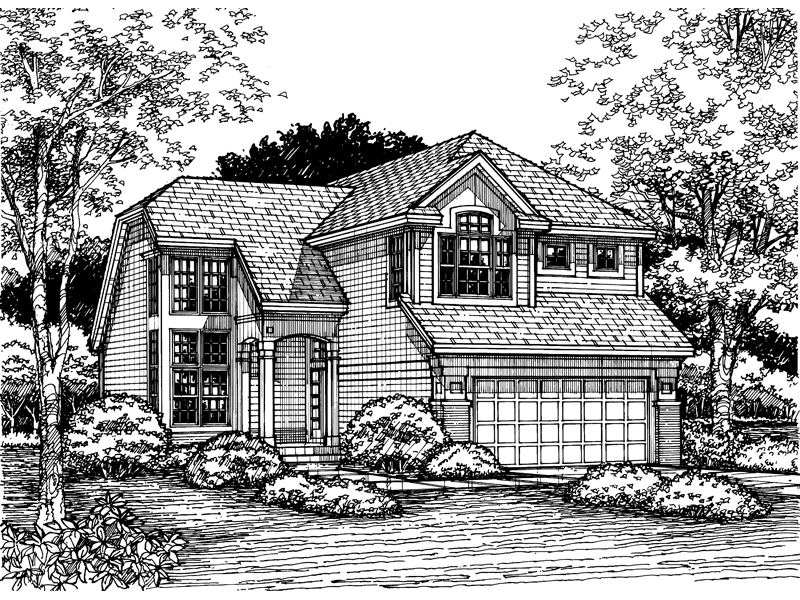 Contemporary House Plan Front of Home - 072D-0615 | House Plans and More