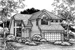 Traditional House Plan Front of Home - 072D-0615 | House Plans and More
