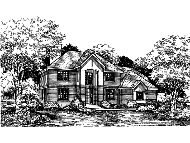 European House Plan Front of Home - 072D-0616 | House Plans and More