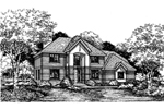 Traditional House Plan Front of Home - 072D-0616 | House Plans and More