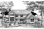 Traditional House Plan Front of Home - 072D-0617 | House Plans and More