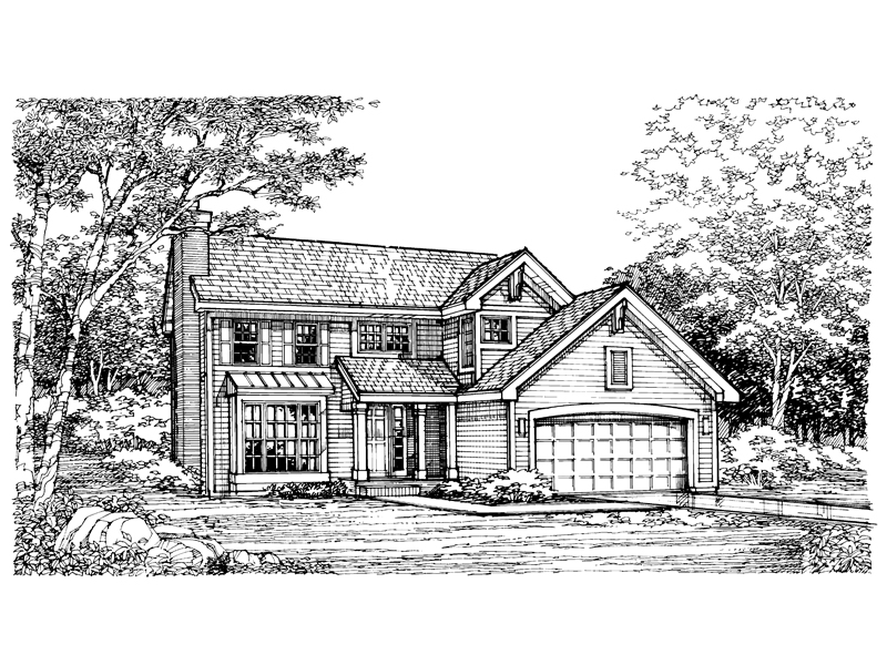 Country House Plan Front of Home - 072D-0618 | House Plans and More