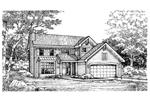 Traditional House Plan Front of Home - 072D-0618 | House Plans and More