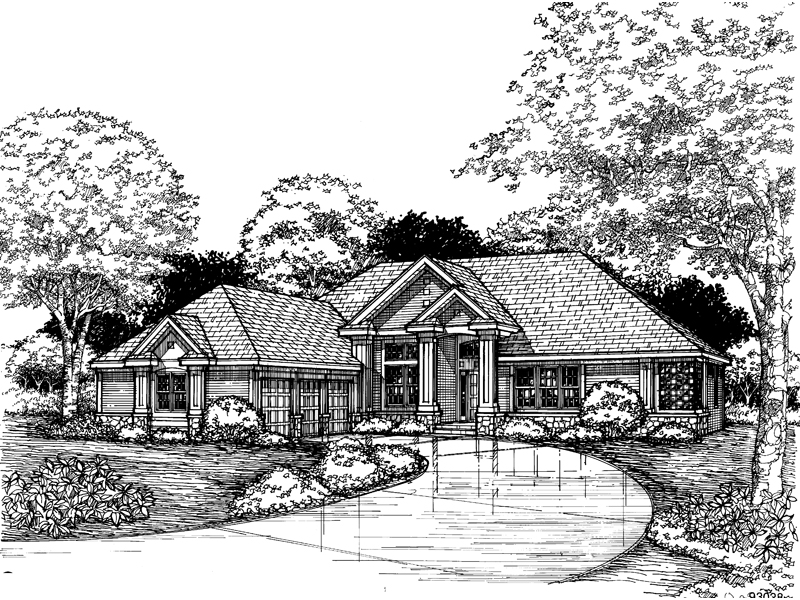 Traditional House Plan Front of Home - 072D-0620 | House Plans and More
