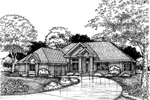 Ranch House Plan Front of Home - 072D-0620 | House Plans and More