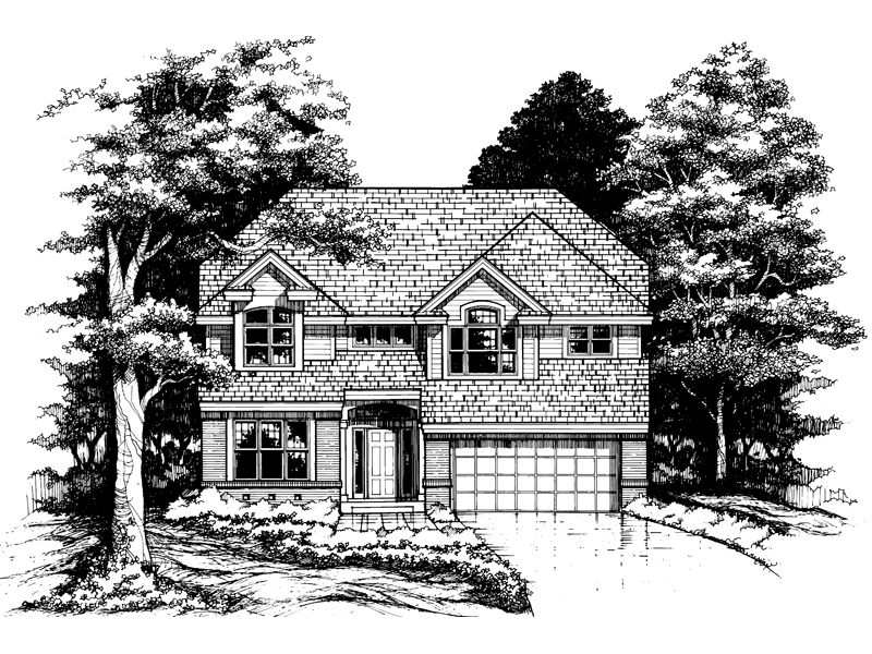 Modern House Plan Front of Home - 072D-0621 | House Plans and More