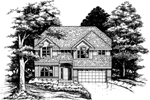 Traditional House Plan Front of Home - 072D-0621 | House Plans and More