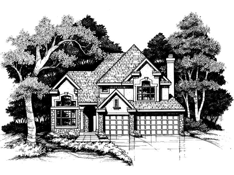Traditional House Plan Front of Home - 072D-0622 | House Plans and More