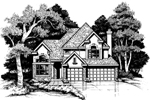 Modern House Plan Front of Home - 072D-0622 | House Plans and More