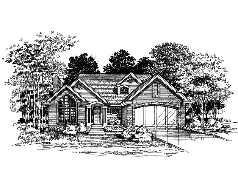 Traditional House Plan Front of Home - 072D-0623 | House Plans and More