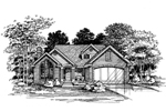 Modern House Plan Front of Home - 072D-0623 | House Plans and More