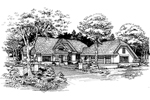 Adobe and Southwestern Plan Front of Home - 072D-0624 | House Plans and More