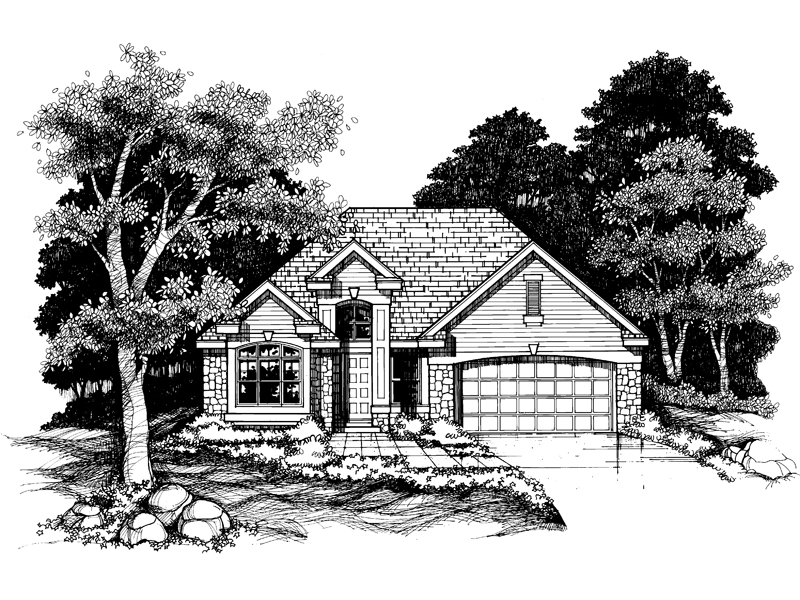 Southern House Plan Front of Home - 072D-0625 | House Plans and More