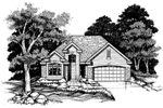 Ranch House Plan Front of Home - 072D-0625 | House Plans and More