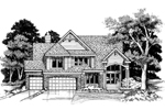 Traditional House Plan Front of Home - 072D-0626 | House Plans and More