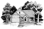 Traditional House Plan Front of Home - 072D-0627 | House Plans and More