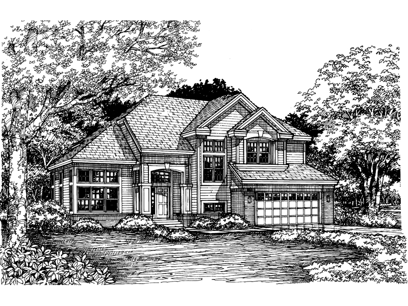 Modern House Plan Front of Home - 072D-0628 | House Plans and More