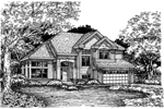 Contemporary House Plan Front of Home - 072D-0628 | House Plans and More