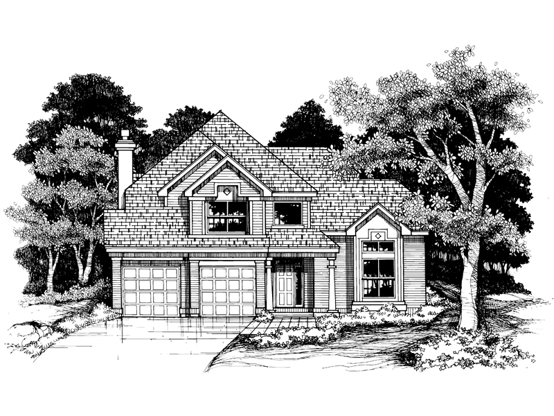 Modern House Plan Front of Home - 072D-0629 | House Plans and More