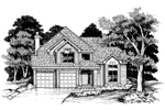Contemporary House Plan Front of Home - 072D-0629 | House Plans and More