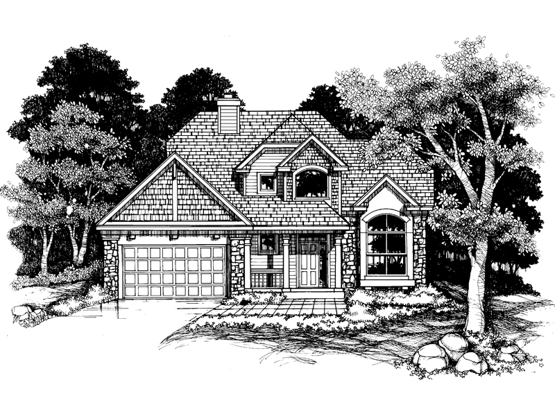Contemporary House Plan Front of Home - 072D-0630 | House Plans and More