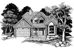 Modern House Plan Front of Home - 072D-0630 | House Plans and More