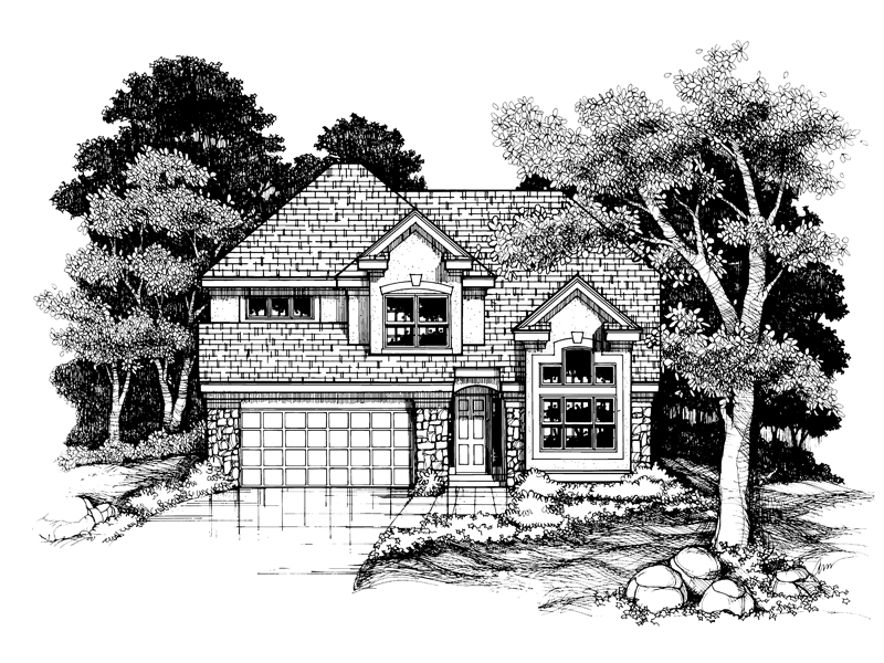 Contemporary House Plan Front of Home - 072D-0631 | House Plans and More