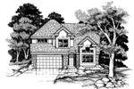 Modern House Plan Front of Home - 072D-0631 | House Plans and More