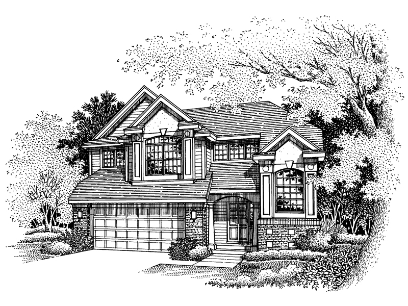 Traditional House Plan Front of Home - 072D-0632 | House Plans and More