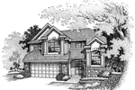Modern House Plan Front of Home - 072D-0632 | House Plans and More