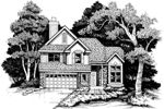 Modern House Plan Front of Home - 072D-0633 | House Plans and More