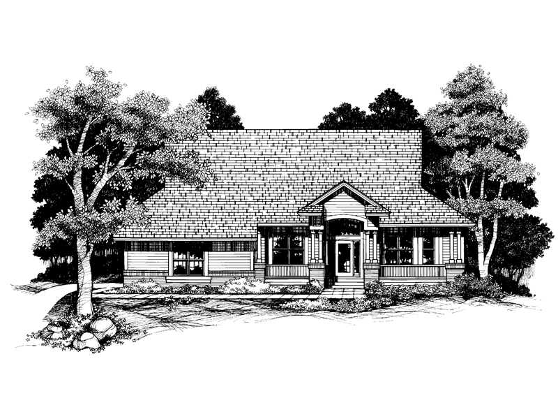 Craftsman House Plan Front of Home - 072D-0634 | House Plans and More