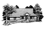 Southern House Plan Front of Home - 072D-0634 | House Plans and More