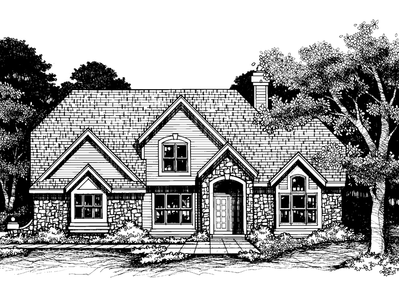 Southern House Plan Front of Home - 072D-0635 | House Plans and More